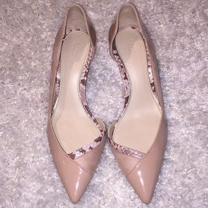 Zara nude pointed toe heels